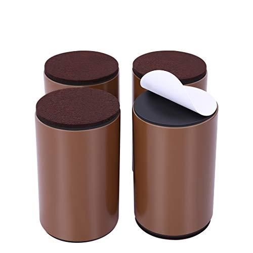 Ezprotekt Elevadores de Muebles de 10 cm, Elevadores de Cama de Acero al Carbono, Diámetro de 6 cm, Autoadhesivos, Resistentes, Añade 10...