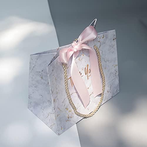 XIAOQIAO Nuevo Bolso de Regalo de mármol Gris Creativo para la Navidad/Boda/Baby Shower/Baby Shower favores favores Regalo Caja de envasado (Color : Pink, Gift Box Size : 12pcs)