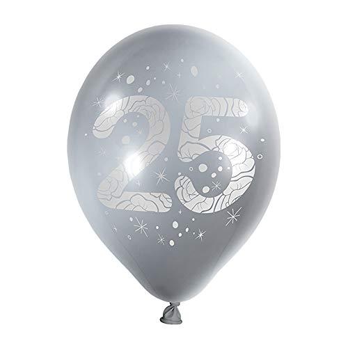 Preis am Stiel Luftballons zum Geburtstag 20 Stück | Ballons | Partyballons | Silberhochzeit | Heliumballons | Geburtstagsballons | Bunte Ballons