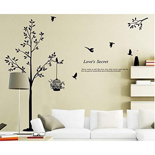 XCWQ muursticker, 165 x 150 cm, motief: vogelkooi, voor woonkamer/slaapkamer