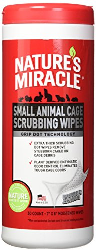 Nature's Miracle Small Animal Cage Scrubbing Wipes Extra Thick