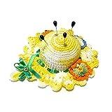 Alfiletero amarillo en forma de sombrero de ganchillo - Tamaño: ø 11 cm - Handmade - ITALY