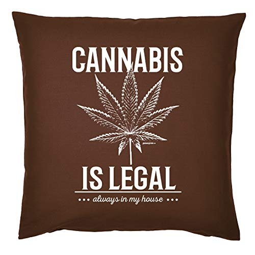 Mega-shirt Cannabis motief voor Kiffer Kussen met vulling Cannabis legal Always in My House Marihuana kussen bank kussen Cannabismotief Leaf Hennep
