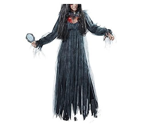 Traje de novia del cementerio de las mujeres, traje de vampiro de bruja Cosplay PERFO-RMANCE Juego de ropa Ghost Town Halloween (Color : D, Size : XL)