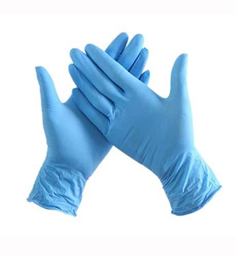 100pcs / Bag Disposable Blauwe Nitril Handschoenen, Waterdichte Handschoenen Handschoenen Hoge Sterkte Van Ongeveer Genetisch Gemodificeerd Voedsel Schone Handschoenen (Size : M)
