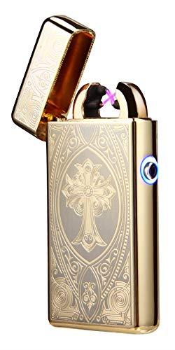 Tenfel ライター USB 充電 プラズマ ターボライター スパック点火 防風 電子ライター 高級 オシャレ 電気 ライター クロスアーク