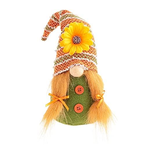yasu7 Otoño Otoño Gnomo Girasol Nisse Sueco Tomte Elf Dwarf Acción de Gracias Regalo Cocina Granja Bandeja Escalonadas Decoraciones Día de San Valentín de la hija Barato Personalizado Día de la Madre