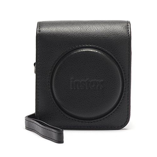 Instax Mini 90 Schutzhülle aus PU-Leder mit Tragegurt , Schwarz , mini 70
