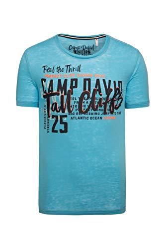 Camp David Herren Ausbrenner-Shirt mit Puff Prints
