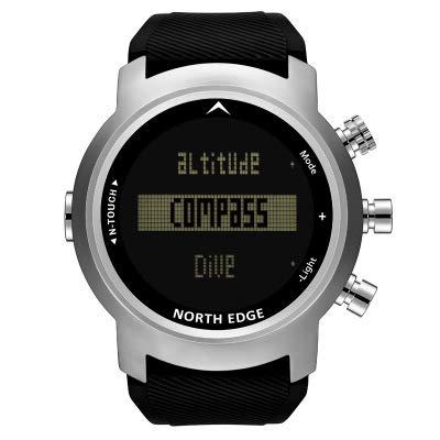 LBJN Outdoor-Sportarten Smart Watch Höhe Kompass Luftdruck Temperatur Multifunktions-Business-Uhr Luftdruck Taucheruhr-Silver