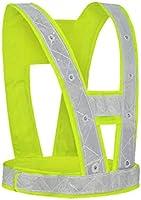 chinejaper Led-veiligheidsvest, reflecterend vest, hoge zichtbaarheid, outdoor, veiligheidsvest, verstelbaar, voor...