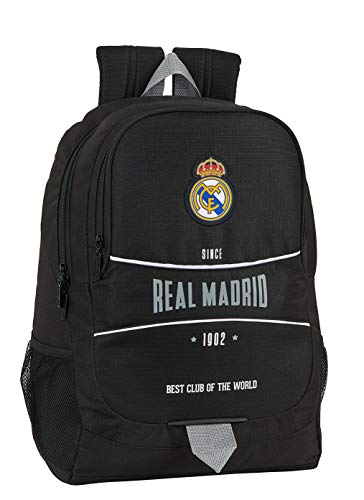 Mochila Safta Escolar de Real Madrid, 320x160x440mm, Multicolor