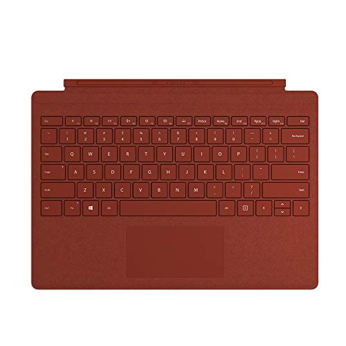 Microsoft Surface Type Cover, for Surface Pro Alcantara, Red (International Layout Keyboard)