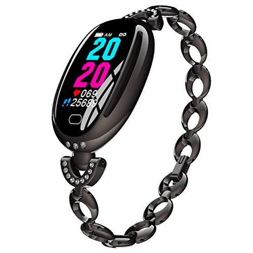 Ladies Smartwatch, Reloj Deportivo Inteligente con La Función De Monitoreo De HRV De ECG De Todo Clima PPG para Prevenir La Infección por El Virus Y Mejorar El Temperamento,Negro