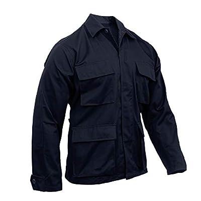 Rothco Solid BDU (Battle Dress Uniform) Military Shirts, Midnight Navy Blue, 3XL