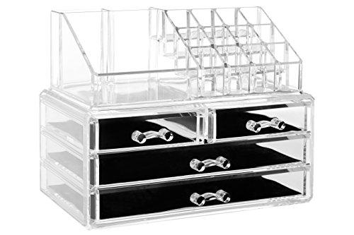 Premier Housewares 16 Compartiments Organiseur de cosmétiques, polystyrène, 13 x 22 x 8 cm, Polystyrène, Polystyrene, 15 x 24 x 19 cm