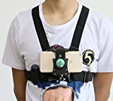 R&R Supply - GoPro & Phone Chest Mount Combo - Compatible with Samsung, iPhone and GoPros - Adjustable Straps fit All