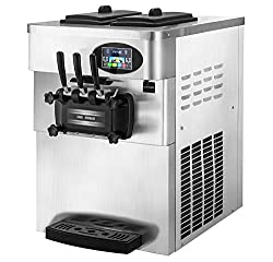 Commercial Ice Cream Machine - Pro-cooling Soft Ice Cream Machine - Vevor 2200W