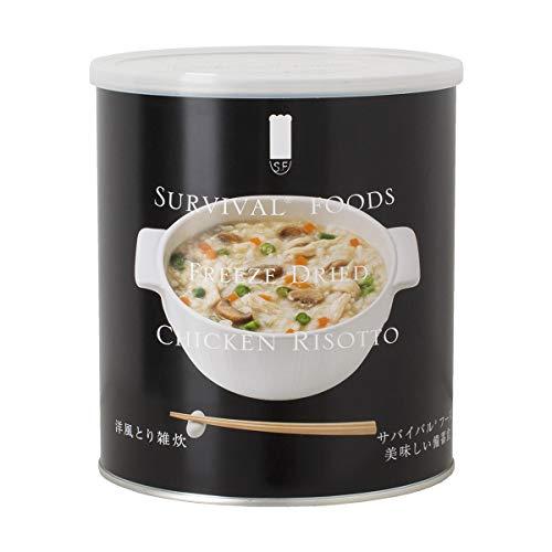 【25年保存/美味しい非常食】サバイバルフーズ[小缶]洋風とり雑炊(1缶)