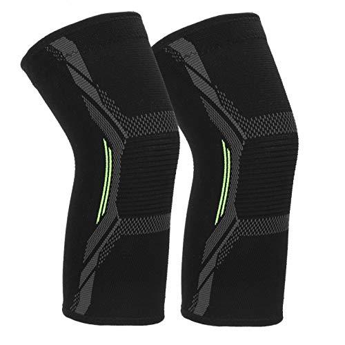 1 par de Rodilleras de Licra para Fitness, Rodilleras, Rodilleras, Envoltura Protectora para aliviar el Dolor en Las articulaciones(L)