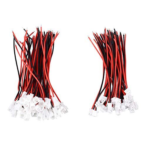 30 pares de conectores JST de 1,25 mm, 2 pines, conector micro eléctrico macho hembra, 80 mm, cables