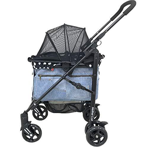 [マザーカート] Mother Cart ラプレ 下段 新色ブルーデニム ペットカート ペットキャリー 多頭飼い 旅行 介護 お出かけ