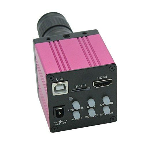 HD 1080P USB Digital Industrie Video Inspektion Mikroskop Kamera HDMI Set TF Karte Video Recorder & Mini 100x C-Mount Zoom-Objektiv–Rot