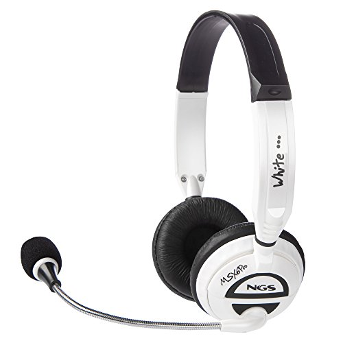 NGS MSX6 Casque pro avec micro Blanc 3,5 mm