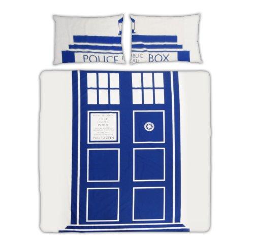 BBC Worldwide Parure de lit Dr Who 200x200 cm + taies d'oreillers 50x75 cm