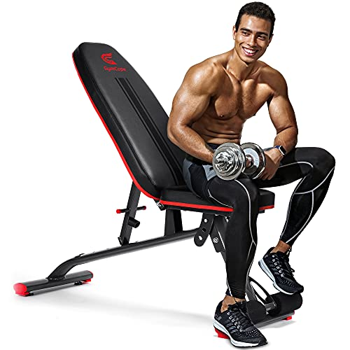 GymCope Decline Bench Adjustable Exercise Bench for Home Gym, Utility Weight Bench Incline Strength Training Bench for Full Body Workout