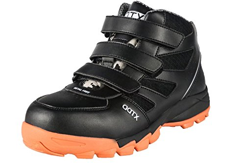DDTX Botas de Seguridad Hombre (Puntera Compuesta,Entresuela de Kevlar,Aislamiento) Zapatos de Trabajo de Electricista Cómodas Transpirables Negro Talla 41