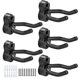 5pcs Guitar Hangers, Stands, Hooks, Holders, Wall Mount Display, For All Size of Guitar, Bass,Ukulele, Mandolin and Banjo (5-Brackets/pack)