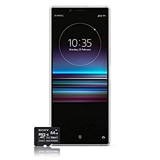 Sony Xperia 1 Smartphone, 4K HDR OLED Display da 6,5 pollici, Dual-SIM, 128GB di memoria, 6 GB RAM, Android 9.0 + Micro SD da 64 GB, Bianco,esclusivo Amazon [Versione Italiana] (B07RX6LX7L) | Amazon price tracker / tracking, Amazon price history charts, Amazon price watches, Amazon price drop alerts