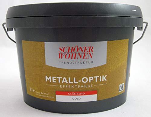 Trendstruktur Metall-Optik glänzend gold 1L