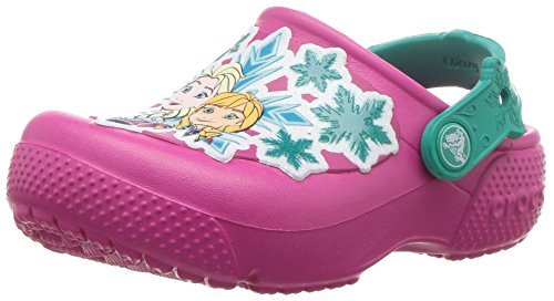Crocs Crocs Fun Lab Frozen Clog Kids, Mädchen Clogs, Pink (Candy Pink), 19/20 EU