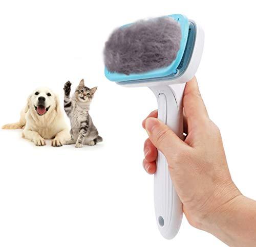 GOOING Fellpflege Katze, Katzenbürste Unterfell Hundebürste Softbürste für Langhaar Universal-Pflegebürste Kunststoff Bürste Haustiere, Hunde, Katzen, Hundebürsten Mit Schutzhülle-Blau