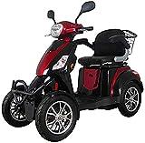 WXDP Autopropulsado Patinete eléctrico de Movilidad Ligero y Plegable, Patinete de Movilidad eléctrico Rojo de 4 Ruedas con Paquete de Accesorios adicionales, Funda imper