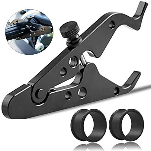 Motorcycle Cruise Control, Motorcycle Throttle Lock, Universal Throttle Assist Wrist/Hand Grip Lock Clamp with Silicone Ring Protect Fits Most Any Bike Durable Lightweight Aluminum Alloy