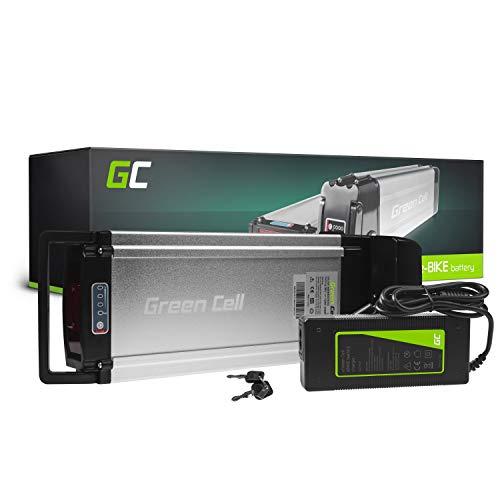 Green Cell GC® Bateria Bicicleta Electrica 36V 12Ah Rear Rack Li-Ion E-Bike Batería y Cargador