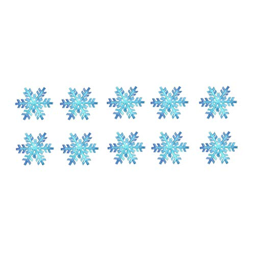 TENNER.LONDON SET OF 10 Blue Sneeuwvlokken DIY Iron on Screen print Stof/Weefsel Machine wasbaar Kerst Blauw Ijs
