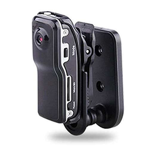QiKun-Home Deportes al Aire Libre portátil Grabadora aérea Inteligente Noche Grabadora aérea Completa DV Video Mini videocámaras Negro