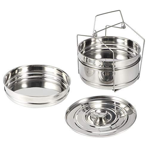 Olla de vapor, apilable de acero inoxidable de 3 niveles, juego de ollas de vapor para cocinar, accesorios para ollas a presión de alimentos