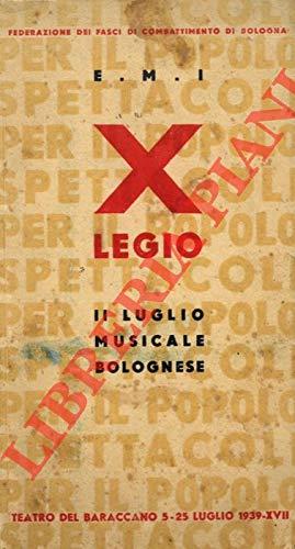 Il Luglio Musicale Bolognese. Teatro del Baraccano. 5 - 25 luglio.