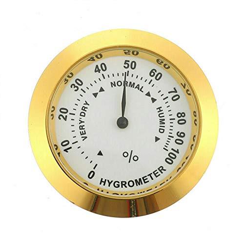GeKLok - Igrometro per sigari, igrometro analogico, con punta rotonda in vetro di precisione, per sigari, armadietto per sigari