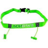 Nonbak portadorsal Race Belt Running Triatlon Trail Running competiciones Black, Neon Green,Orange, Pink, Red (Green)