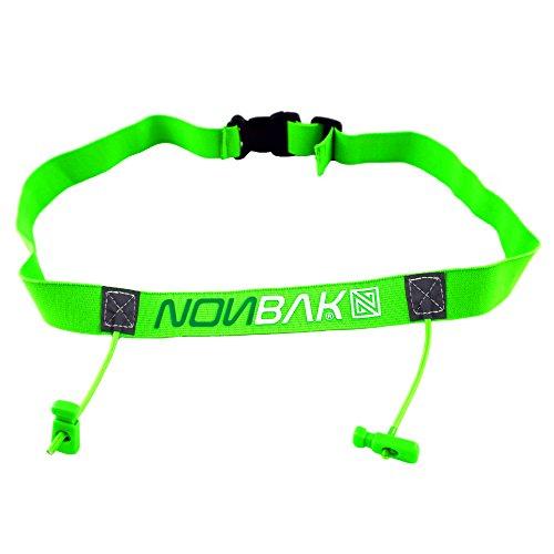 Nonbak portanumero per Gare di Triathlon - Anche per Corse, Ciclismo, maratone - Triathlon Race Number Belt (Verde Lime)