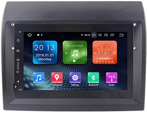 AEBDF Android 9.0 Coche Sat Nav para FIAT Peugeot Citroen, Pantalla Táctil de IPS de navegación GPS de 7 Pulgadas, Player Multimedia Multimedia SWC en línea/Offline Mapa,4 Core 4g+WiFi 1+32g