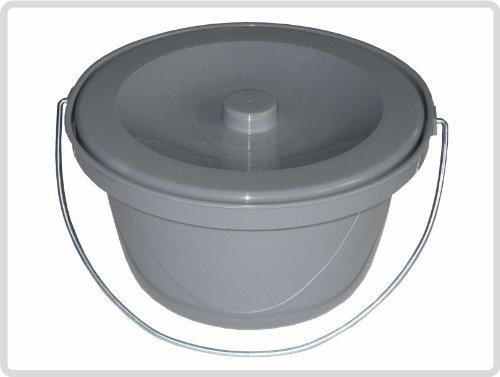 Toilettenstuhl-Eimer, grau