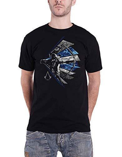 Assassins Creed Herren T-Shirt Legacy Connor Kenway Bow Aiming Baumwolle schwarz - XXL