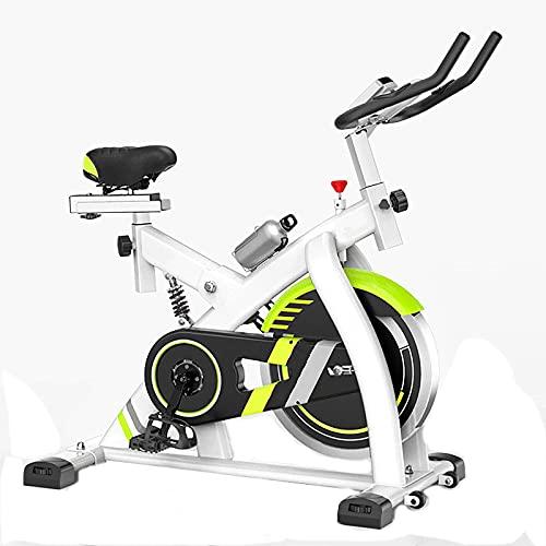 Bicicleta estática de resistencia magnética - Bicicleta de ciclismo para interiores estacionaria con cómodo cojín de asiento, correa silenciosa, ejercitador de pedal debajo del escritorio, bicicleta